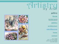Artistry By Ann Art gallery screenshot