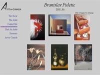 Branislav Puletic Art gallery screenshot