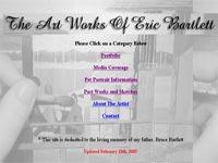 Eric Bartlett Art gallery screenshot