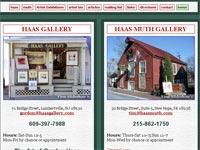 Haas Gallery Art gallery screenshot