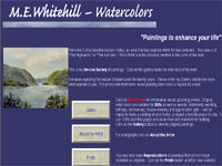M.E.Whitehill-Watercolors Art gallery screenshot