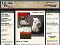 Galerie Verdun Art gallery screenshot