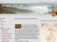 Intaglio Fine Art Art gallery screenshot