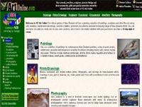 New Zealand Art Online Art gallery screenshot