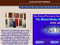 Julia's Art Path Paintings Art gallery screenshot